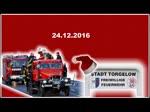 Heiligabend begleitet die Freiwillige Feuerwehr Torgelow den Weihnachtsmann mit Sirenen und Blaulichter durch die Stadt. - 2016