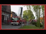 Freiwillige Feuerwehr Torgelow bei einer Übung vor einem leerstehenden Gebäude. - 30.04.2012